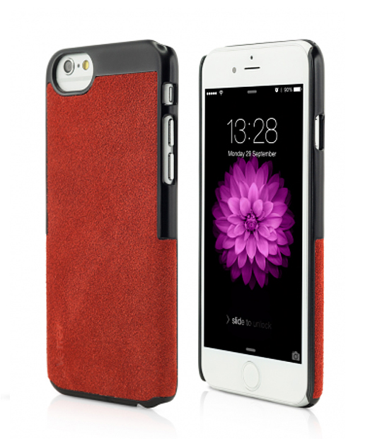 Husa iPhone 6 Clip-On Suede Leather Series rosie