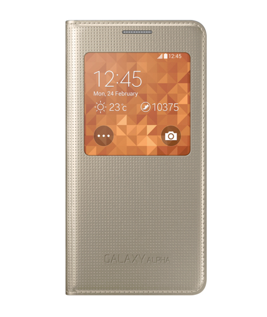Husa Galaxy ALPHA S View Cover gold