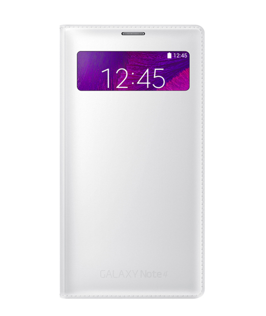 Husa Galaxy Note 4 S View Wallet Cover alba