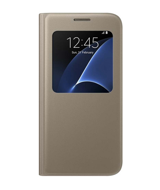 Husa Samsung Galaxy S7 Flip Cover S-View aurie