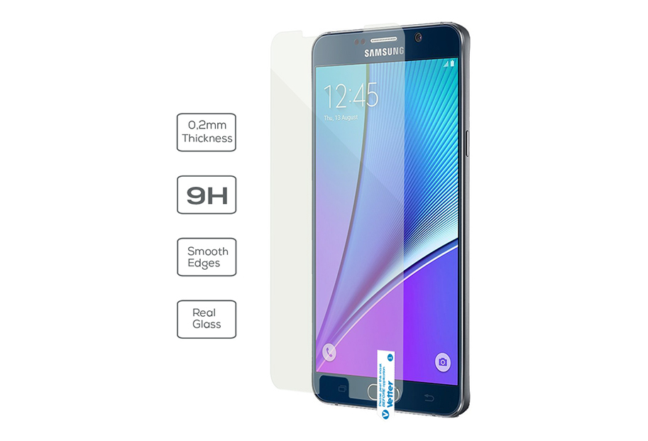 Samsung Galaxy Note 5 Vetter Ultra Slim 0.2mm Tempered Glass Pro