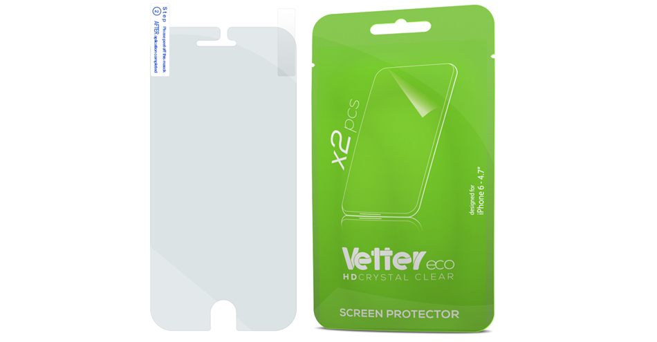 Folie protectie iPhone 6 2 Pack Vetter Eco