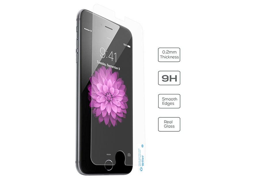 iPhone 6s Plus, 6 Plus Vetter Ultra Slim 0.2mm Tempered Glass Pro
