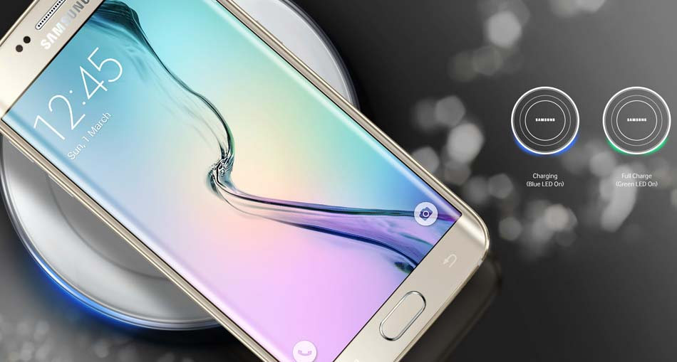 Incarcator wireless Fast Charger Samsung Galaxy S6 Edge Plus alb