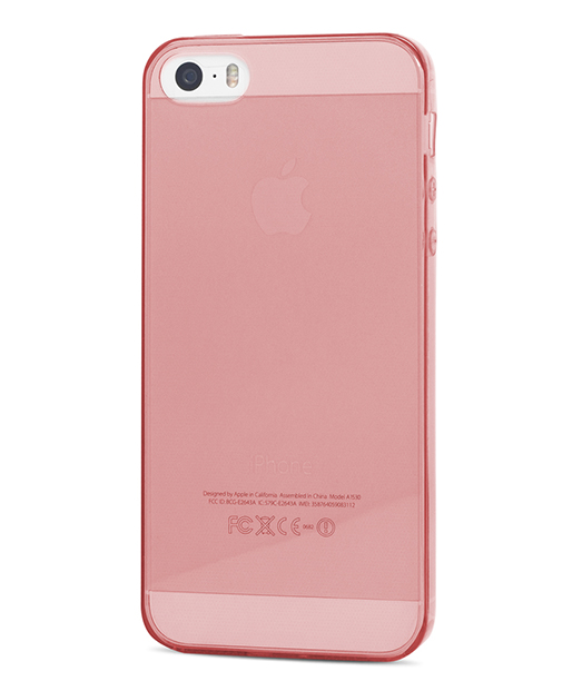 Husa iPhone 5s, 5 Vetter Soft Pro Crystal Series transparenta rosie 2