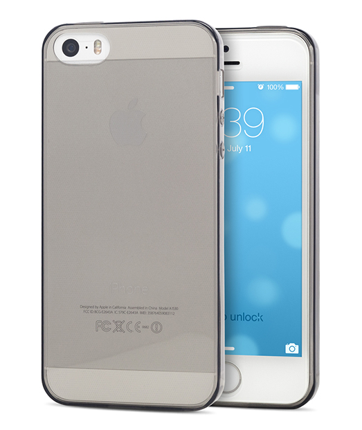 Husa iPhone 5s, 5 Vetter Soft Pro Crystal Series transparenta neagra