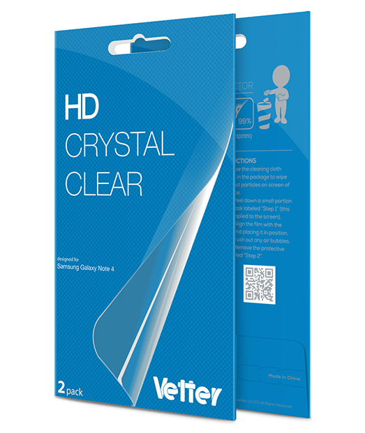 Samsung Galaxy Note 4 2 pack Vetter HD Crystal Clear