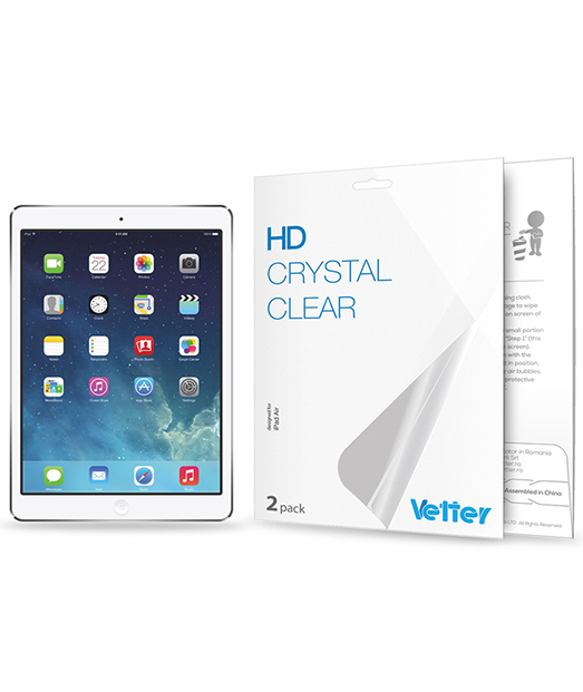Folie Vetter HD Crystal Clear pentru iPad Air / iPad 5 | 2 Pack