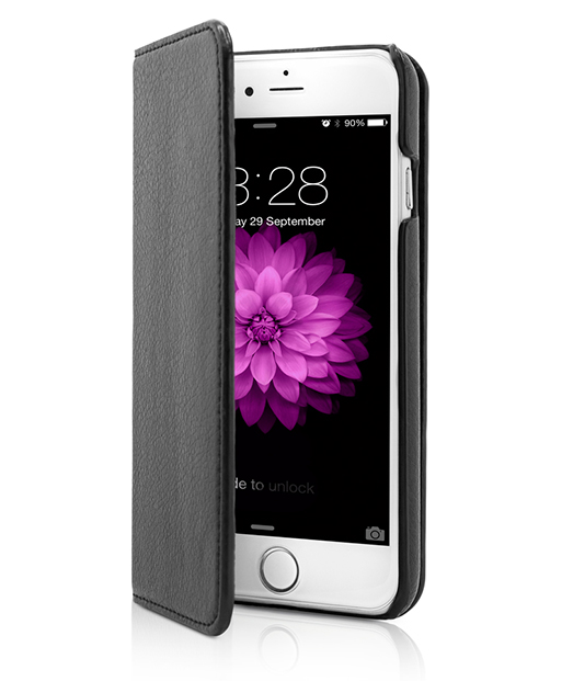 Husa Vetter iPhone 6s, 6 2 in 1 Leather Flip Series neagra