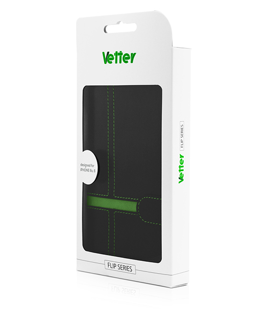 Husa Vetter iPhone 6s, 6 Flip Book Series verde
