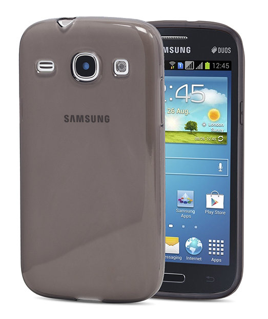 Husa Ecoline Soft Touch Black Samsung Galaxy Core i8260 3