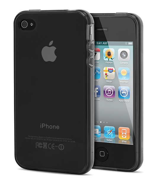 Husa Ecoline Soft Touch Black iPhone 4s, 4 2