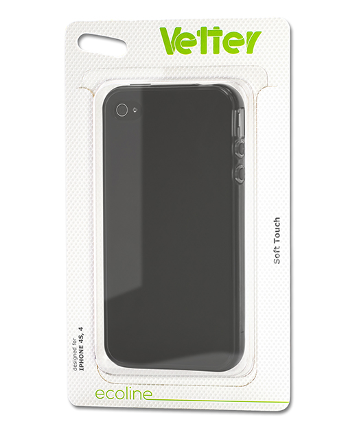 Husa Ecoline Soft Touch Black iPhone 4s, 4