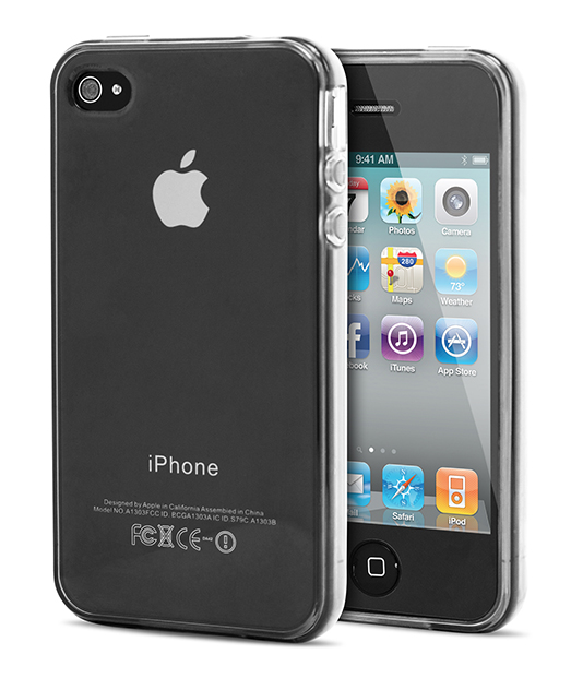 Husa Ecoline Soft Touch Clear iPhone 4s, 4 2