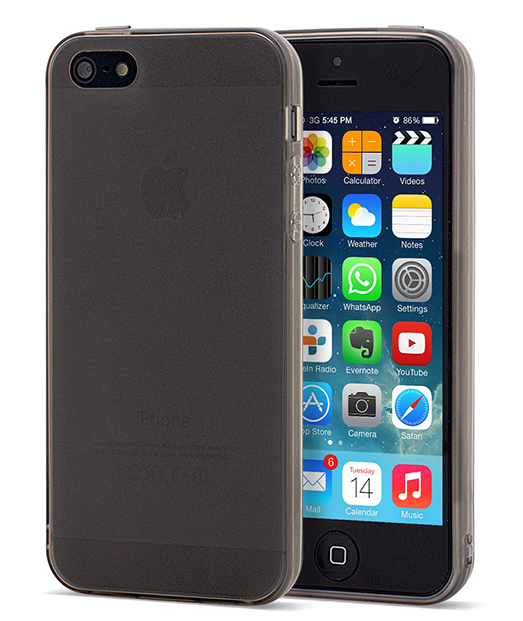 Husa Ecoline Soft Touch Slim Black iPhone 5s, 5 1