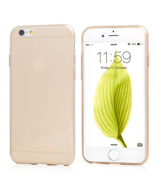 Husa Ecoline Soft Touch Ultra Slim Gold iPhone 6s, 6 2