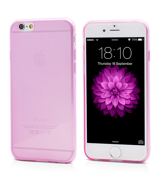 Husa Ecoline Soft Touch Ultra Slim Pink iPhone 6s, 6 2
