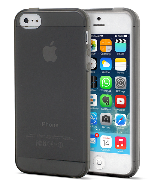 Husa Soft Touch Black iPhone 5s, 5 - 2