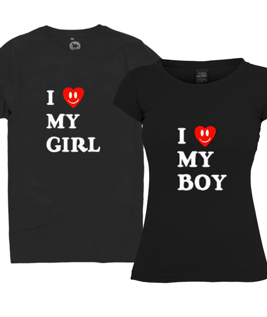 Set tricou I Love My Girl ❤ Boy