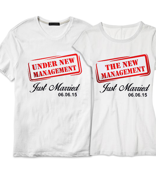 Set tricou Just ❤ Married