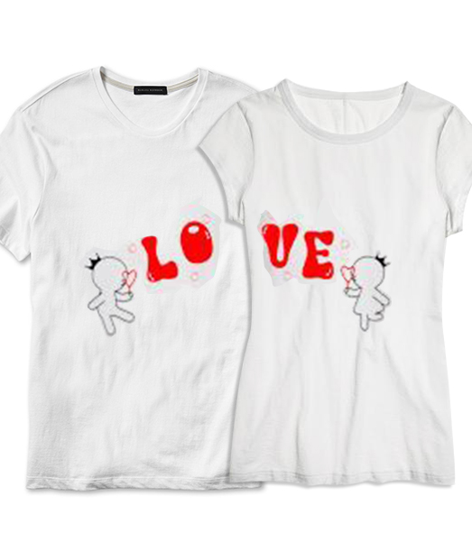 Set tricou Lo ❤ Ve Bubble