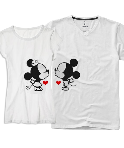 "Set tricou ""Mickey ❤ Minnie"""