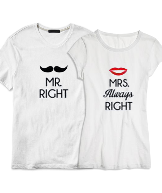 Set tricou Mr Right