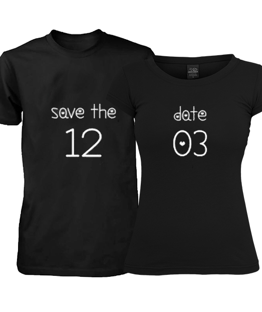 Set tricou Save the Date ❤