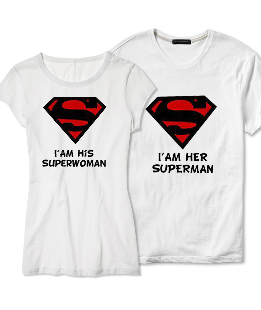 Set tricou Superman ❤ Superwoman
