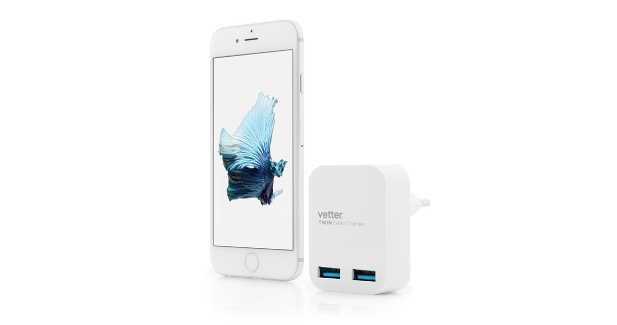 Twin Travel Charger 2 x USB 2.4A