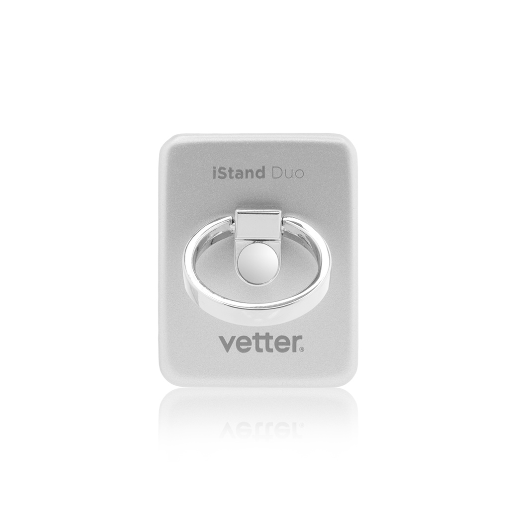 iStand Duo Desk Stand and Smart Grip Silver