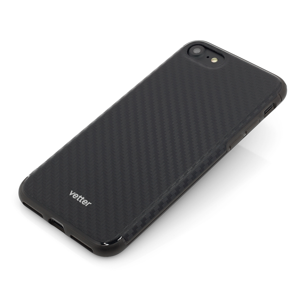 Husa iPhone 7 Clip-On Hybrid Slim Series Carbon Look Black