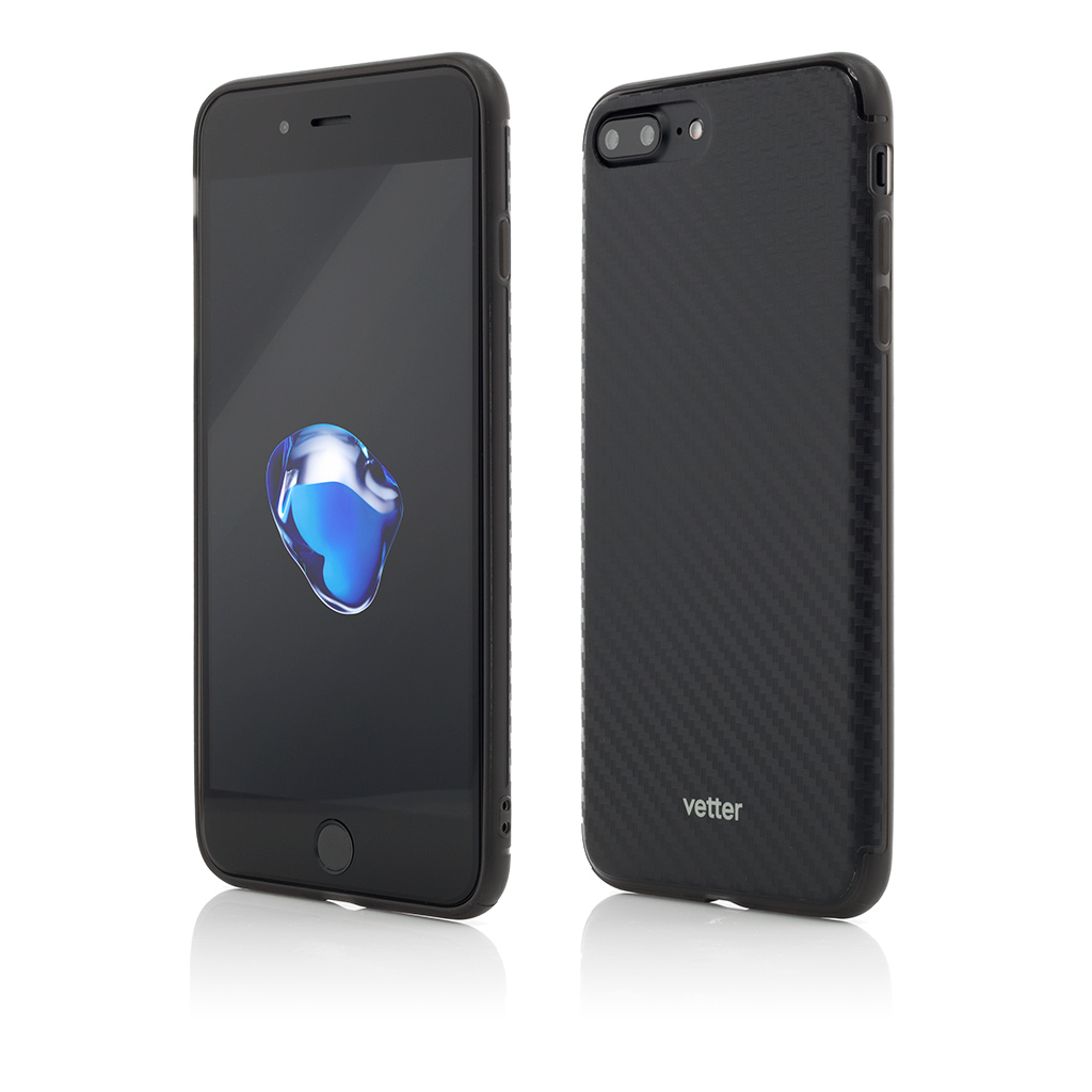 Husa iPhone 7 Plus Clip-On Hybrid Slim Series Carbon Look
